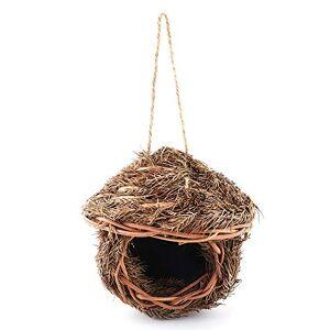 SCOC Bird House Artificial Handwoven Straw Hanging Bird Nest Birdhouse Home Outdoor Yard Garden Ornament For Parrot for Garden Birds (Color : B, Size : 21X8.5X18CM)