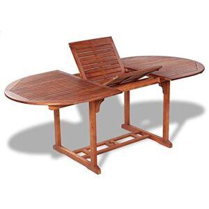 vidaXL Outdoor Extendable Dining Table Acacia Wood Kitchen Garden Furniture