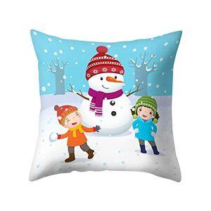 SpirWoRchlan Christmas Decorations Sale, Christmas Cushion Cover Tree House Santa Elk Snowman Pillow Case Cushion Cover Merry Christmas Decorative Xmas Decor Ornaments Party Decor Gifts