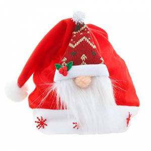 N/M Yinuiousory Swedish Christmas Santa Gnome Plush Doll, Christmas Swedish Gnome Santa Doll Hat Unisex Cap for Holiday Party Home Decor