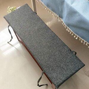 GGoty Non-Slip Bench Cushion with Tie,Soft Lounger Chair Cushion Bench Swing Cushions,2 Seater Large Garden Seat Cushion Pad (Dark gray,120x35cm)