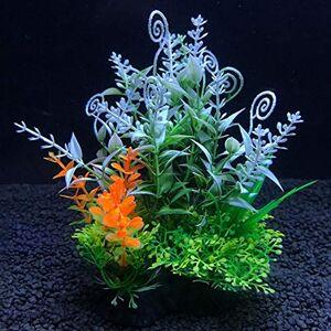 TWGDH 2 Pcs Simulation Artificial Plants Aquarium Decor Water Weeds Ornament Plant Fish Tank Aquarium Grass 14Cm Decoration (Color : A10, Size : 14cm)