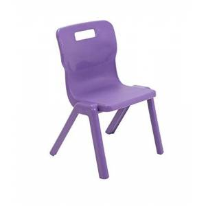 Titan One Piece Classroom Chair, Plastic, Purple, Size 3 for Ages 5-7 Years