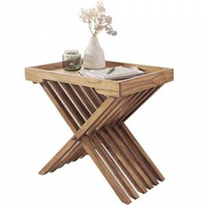 Wohnling Side Table, Wood, Acacia, 60 x 40 x 57 cm