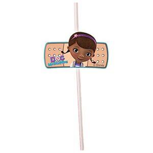 Disney Unique Party 71531 - Disney Doc McStuffins Party Straws, Pack of 6
