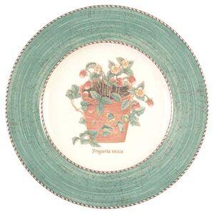 Wedgwood Sarah's Garden ontbijtbord Diameter 20 cm, White, Gold, Ivory, Navy, 39 x 16 x 2 cm