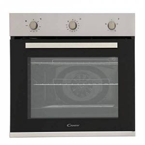 Candy FCP403X Oven Single Fan Stainless Steel A Energy Rating 4 Functions 65 Litre Capacity Minute Minder Rotary Controls Double Glazed Door