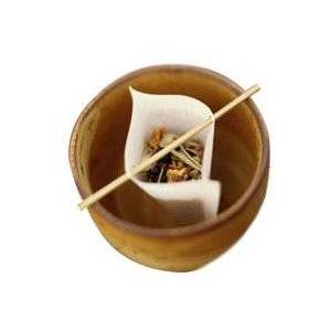 Leaf Paper Tea Filters with Wooden Sticks (Pack of 40)