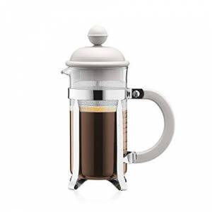 BODUM Caffettiera 3 Cup French Press Coffee Maker, White, 0.35 l, 12 oz