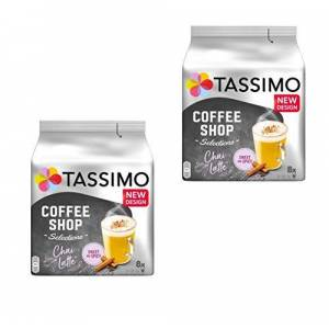 Tassimo Twinings Chai Latte, Pack of 2, 2 x 16 T-Discs (16 Servings)