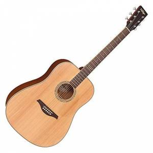 Vintage VEC501N Electro Acoustic, Satin Natural