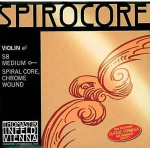 Thomastik Single string for Violin 4/4 Spirocore - D-string spiral core, chrome wound, soft