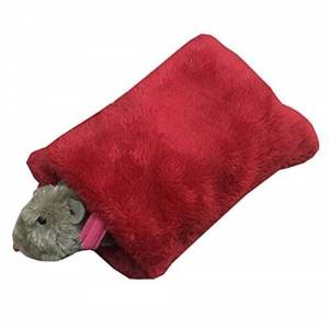 FUJOY Pet Pouch Bed, Soft Pet Beds Nest Cat Puppy Sleeping Bag Bed Animal Bed Cave House Sleeping Sack (red)