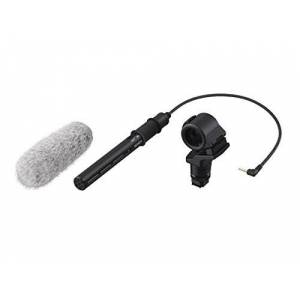 Sony ECM-CG60 Digital Camera Microphone with Wire, Black, Grey - Microphones (Digital Camera Microphone, 40 - 20000Hz, Wired, 3.5mm (1/8 Inch), 77g, AAA)