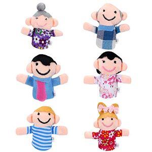 Siumir Family Member Finger Puppets Plush Finger Toys for Kids Story Time 6 pcs