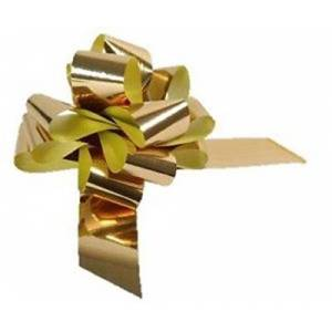 Apac Packaging Ltd Large Metallic Gold Pull Bow - Ideal As Gift Wrap, Florist, Wedding Bow