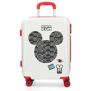 Disney Mickey Global Icon Hardside Carry-on Suitcase, 40x55x20 cms, White, a_NA