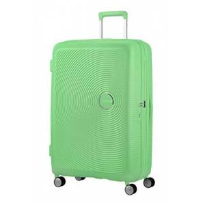 American Tourister Soundbox - Spinner L Expandable Suitcase, 77 cm, 97/110 Litre, Green (Spring Green)