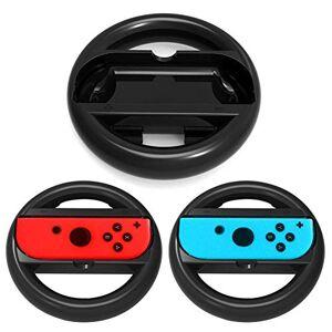 OSTENT 2 x Racing Steering Wheel Handle Grip for Nintendo Switch Joy-Con Controller
