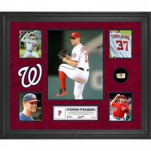 """""""""""""""Fanatics Authentic"""""""""""" """"""""""""Stephen Strasburg Washington Nationals Framed 5-Photo Collage with Piece of Game-Used Ball"""""""""""""""