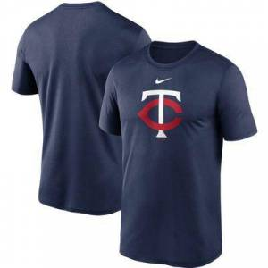 "Nike """"""Men's Nike Navy Minnesota Twins Large Logo Legend Performance T-Shirt"""""""