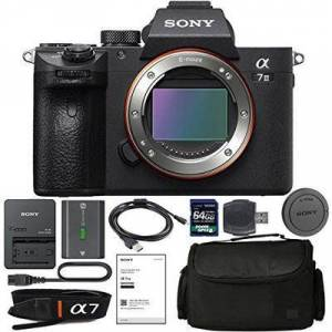 Sony Alpha a7R III Mirrorless Digital Camera (Body Only) With NP-FZ100 Battery, 64gb SDXC 1200x Card, Card Reader, Carrying case, Charger Bundle Kit