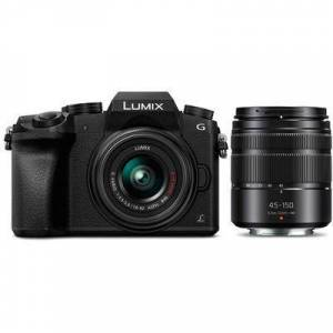 Panasonic Lumix DMC-G7 Mirrorless Micro Four Thirds Digital Camera with 14-42mm and 45-150mm Lenses (Black)