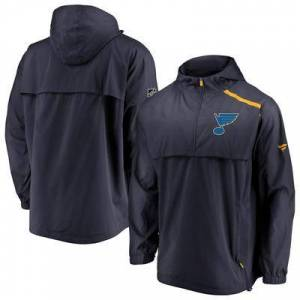 Fanatics Branded Men's Fanatics Branded Navy St. Louis Blues Authentic Pro Rinkside Anorak 1/4-Zip Jacket