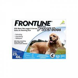 Frontline Plus For Medium Dogs 23-44 Lbs (Blue) 12 Months