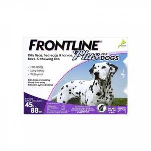 Frontline Plus For Large Dogs 45-88 Lbs (Purple) 12 Months