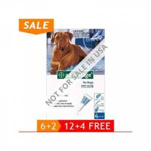 Advantage Extra Large Dogs Over 55 Lbs (Blue) 4 Months