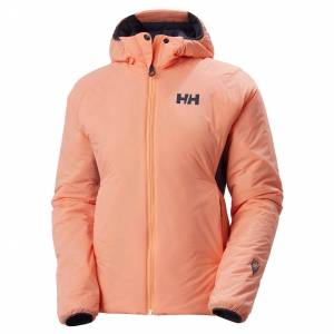 Helly Hansen W Odin Stretch Hooded Insulator Jacket Womens Hiking Orange S