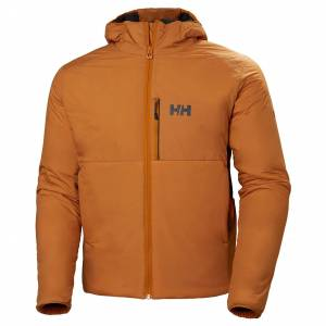 Helly Hansen Odin Stretch Hooded Insulator Mens Hiking Jacket Yellow M