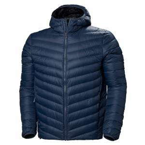 Helly Hansen Verglas Hooded Down Insulator Mens Hiking Jacket Navy L