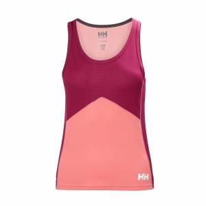 Helly Hansen W Lifa Active Light Singlet Womens Baselayer Pink L