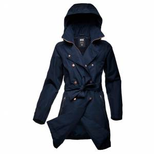 Helly Hansen W Welsey Ii Trench Womens Rain Jacket Navy S