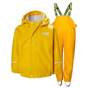 Helly Hansen Kids Moss Pu Rainset Rain Pant Yellow 122/7
