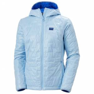 Helly Hansen W Lifaloft Hooded Insulator Jacket Womens Hiking Blue L