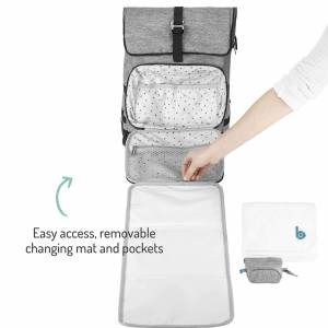 Babymoov Le Sancy Backpack Changing Bag - Grey