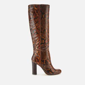 Dune Women's Simonne Leather Knee High Boots - Reptile Print - UK 5
