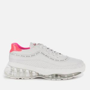 Bronx Women's Bubbly Running Style Trainers - White/Neon Pink - UK 5