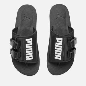 Puma Men's Wilo Lux Nylon Sliders - Puma Black/Whisper White - UK 9 - Black