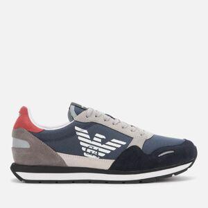 Emporio Armani s Running Style Trainers - Navy/White/Plum - UK 11