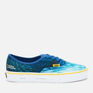 Vans X National Geographic Authentic Trainers - Ocean/True Blue - UK 10