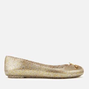 Vivienne Westwood for Melissa Women's Space Love 21 Ballet Flats - Gold Glitter Orb - UK 7