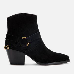 MICHAEL MICHAEL KORS Women's Goldie Suede Western Boots - Black - UK 5/US 8 - Black