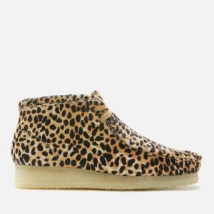 Clarks Originals Women's Wallabee Boots - Brown Animal Print - UK 6