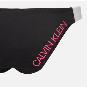 Calvin Klein Women's Cheeky Bikini Bottom - Black - M