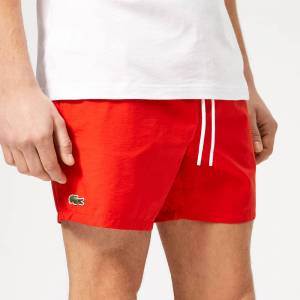 Lacoste Men's Classic Swim Shorts - Red - 6/XL - Red