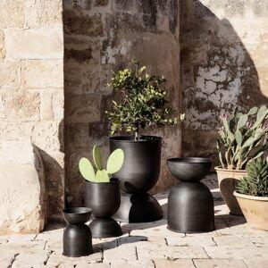Ferm Living Hourglass Pot - Black/Dark Grey - Extra Small